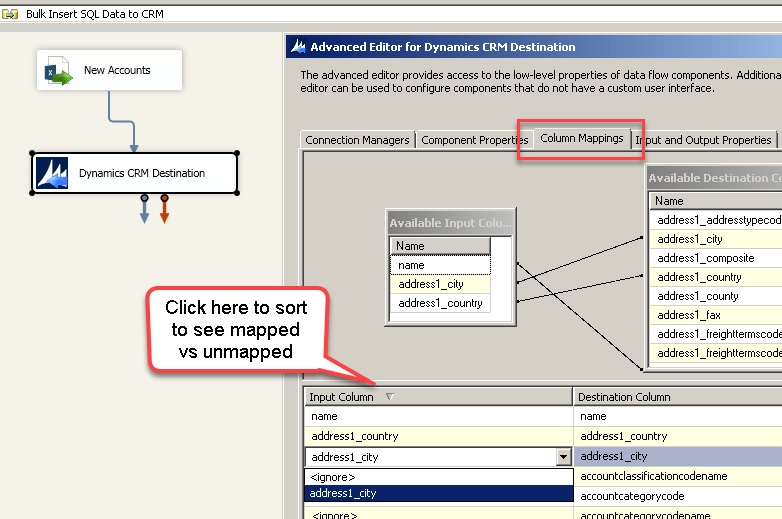 Load data into Dynamics CRM using SSIS - Insert, Upsert