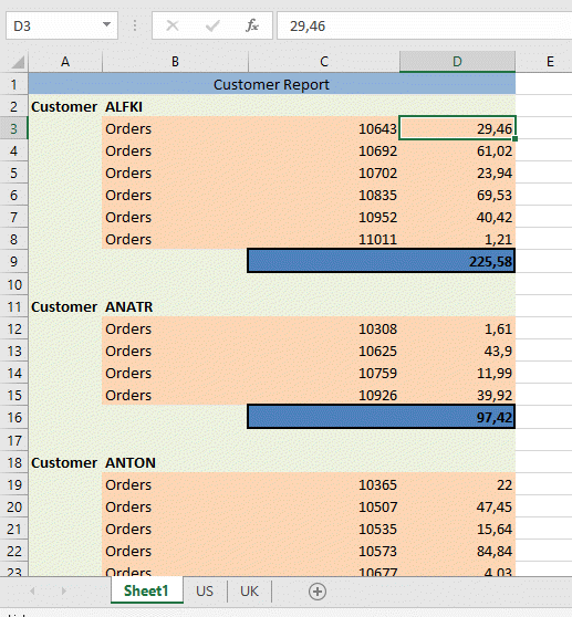 Excel File generated using Custom Template Engine