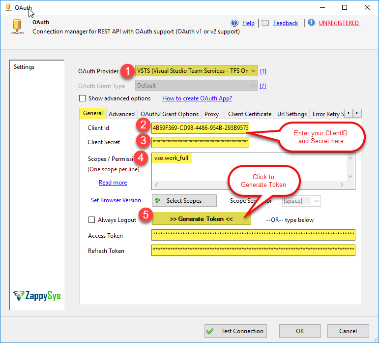 Read Visual Studio Team Services data in SSIS (TFS Online) – Call