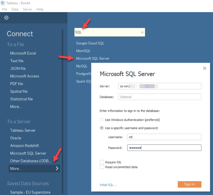 Connect to REST API in Tableau using Microsoft SQL Server (Linked Server OPENQUERY approach)