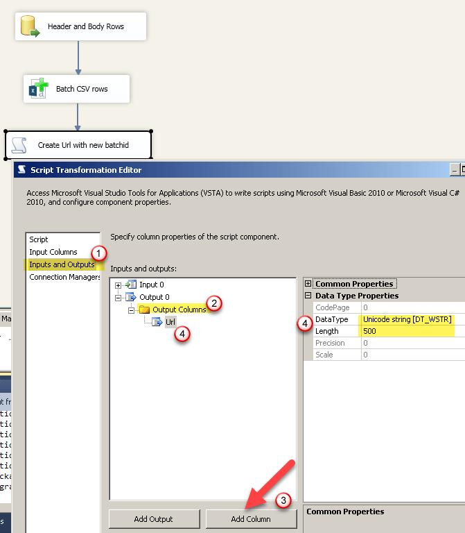 Output Unique URL or Number using SSIS Script Transform