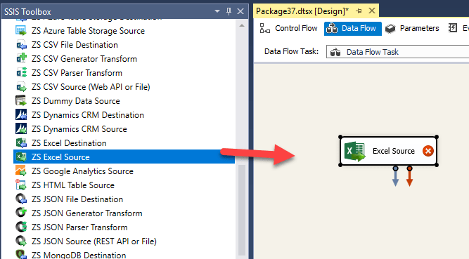 Load data into PostgreSQL from Excel file using SSIS