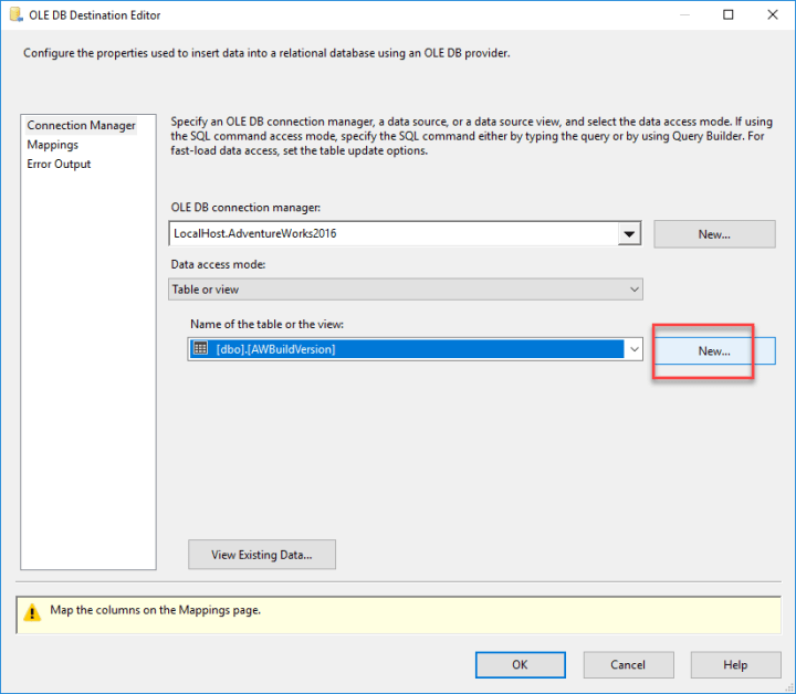 Create SQL Server to store RSS data in SSIS