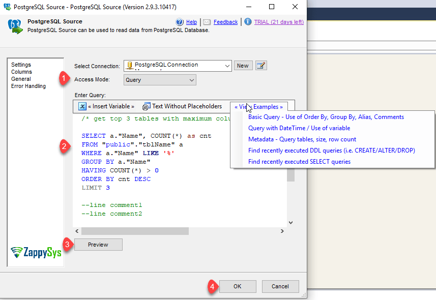 Export PostgreSQL Table Data to SQL Server in SSIS