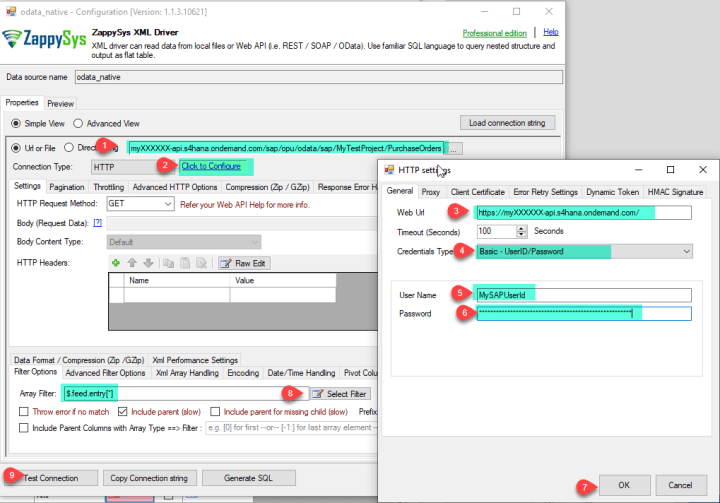 XML Driver : SAP S/4HANA OData Service Configuration