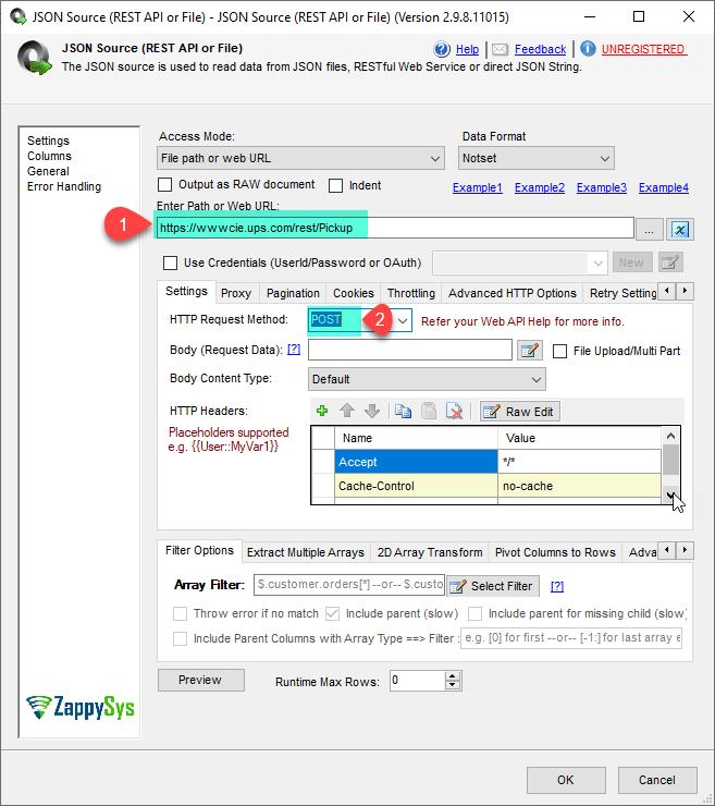 JSON Source Set URL