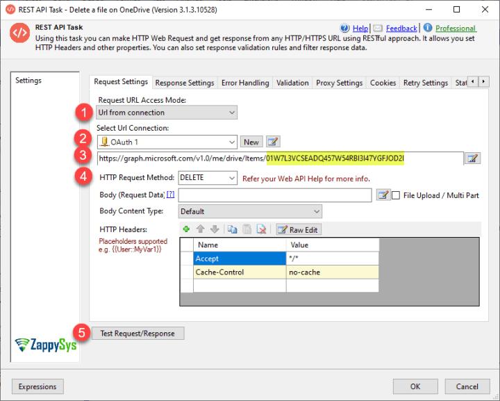 Delete OneDrive File