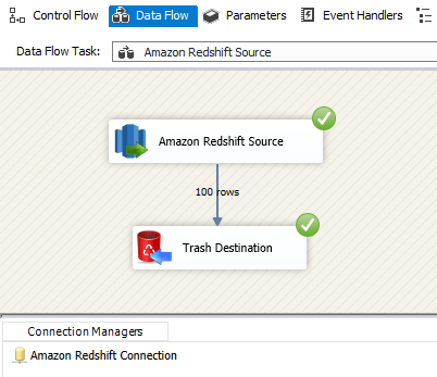 SSIS Amazon Redshift Source - Run or Execute Package