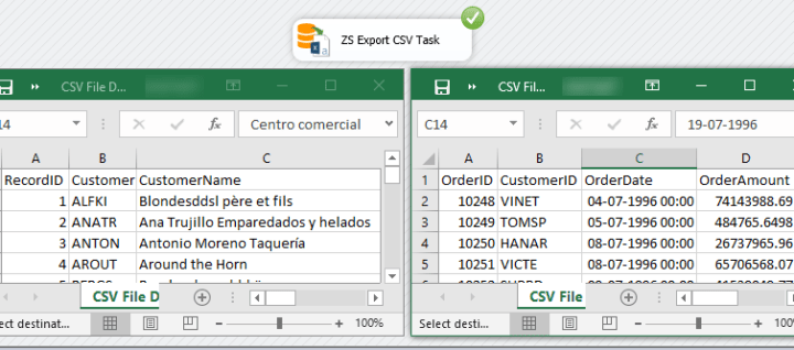 Ssis Export Excel File Task Dynamically Create Zappysys