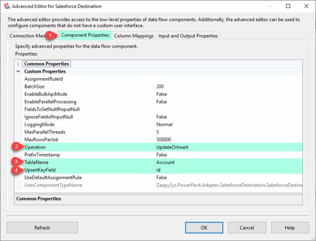SSIS Salesforce Destination Connector (CRM Destination) - Visual