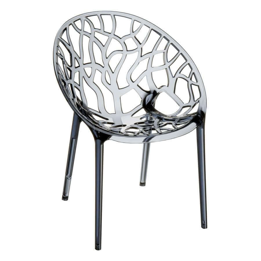 crystal chair za 1156c smoke grey