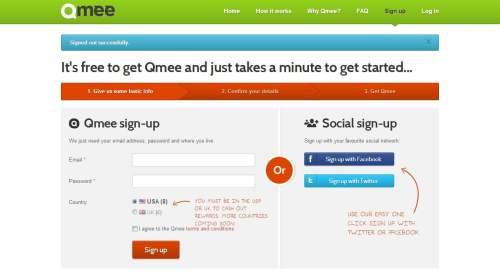регистрация на qmee