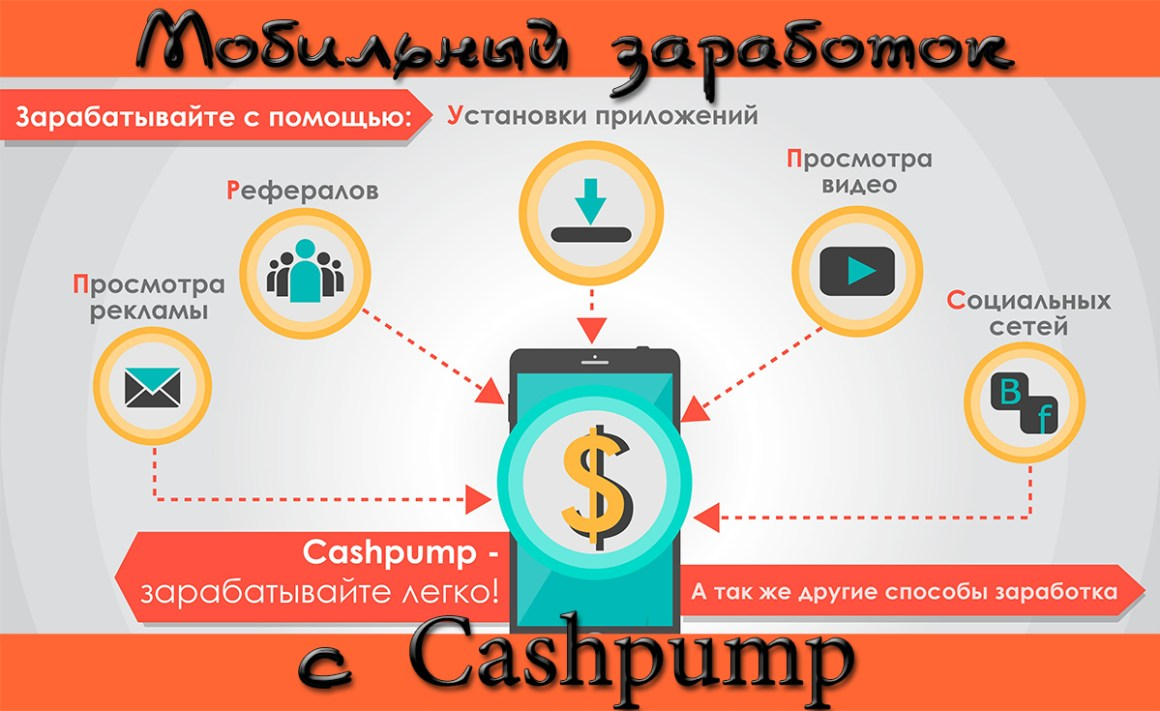 Мобильный заработок с Cashpump