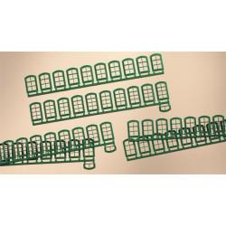 63 ventanas verdes, varias medidas, Marca Auhagen, Ref: 80209.