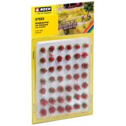 Matojos de hierba, plantas campestres, 42 piezas, 6 mm, Rojo. Marca Noch, Ref: 07035.