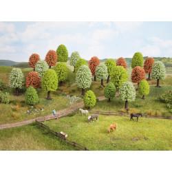 Surtido de 10 arboles variados primavera de hoja caduca, 5-9 cm, Escala H0. Marca Noch, Ref: 26906.