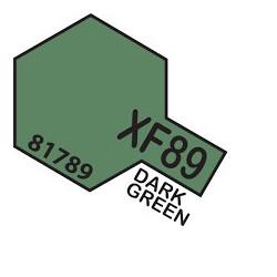 Flat Dark green 2, Verde oscuro Mate (81789). Bote 10 ml. Marca Tamiya. Ref: XF-89.