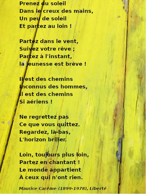 Je Suis Content Maurice Careme : content, maurice, careme, Ateliers, Français, écriture, Poèmes, Réfugiés., Zarbalib(r), Frontières