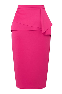 Miss Selfridge Pink Origami Pencil Skirt
