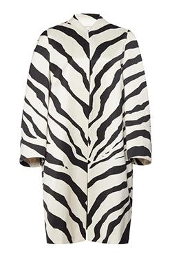 Lanvin Zebra Cotton-Blend Coat