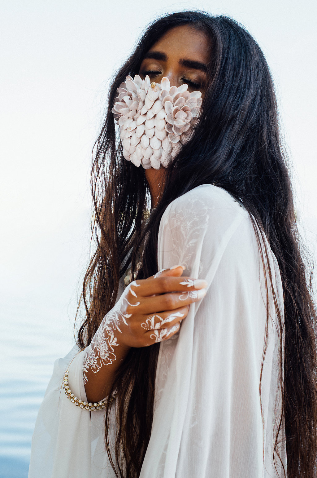 White Henna Editorial Photography by Tara Noelle Look 1