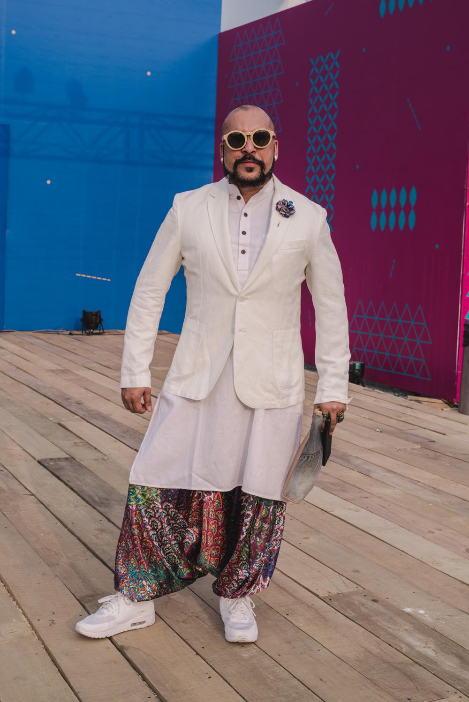 Blogger Subhashish Mandal Street Style Amazon India Fashion Week Spring Summer 2018; Photo by The Co Lab