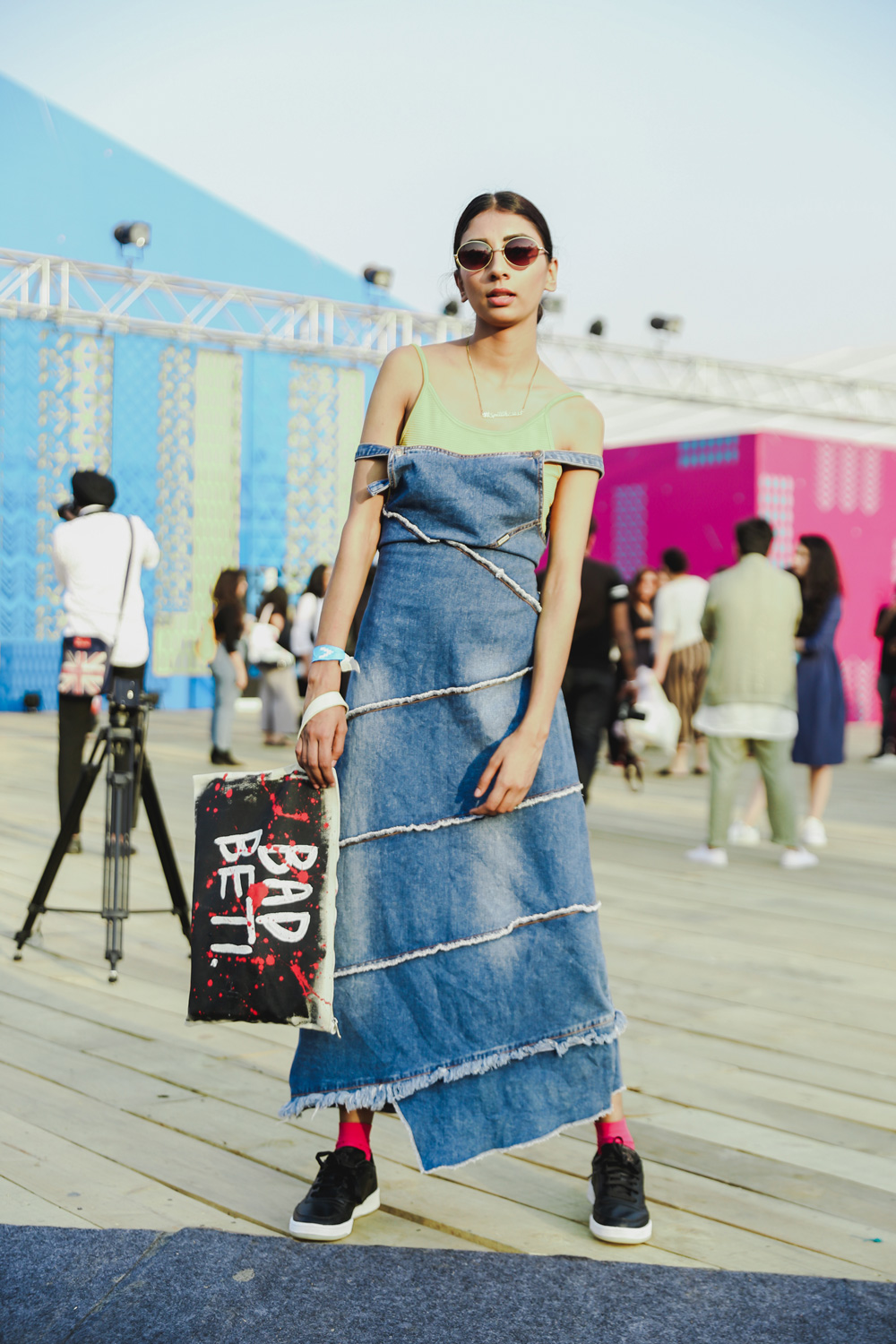 Blogger Dolly Singh   Street Style Amazon India Fashion Week Spring Summer 2018; Photo by The Co Lab