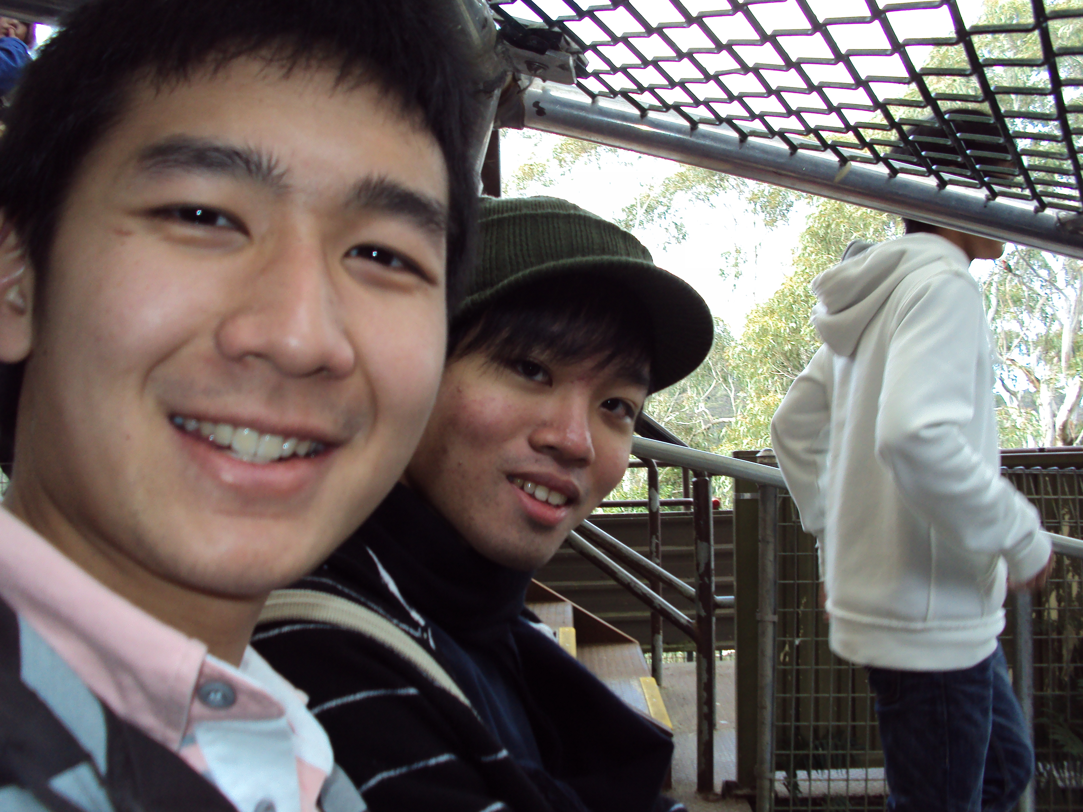 H and I in the tram