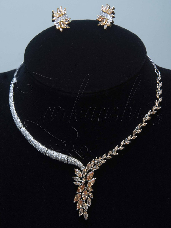 Champagne CZ Necklace Set