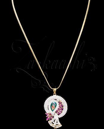 Sleek and Elegant CZ Necklace Set