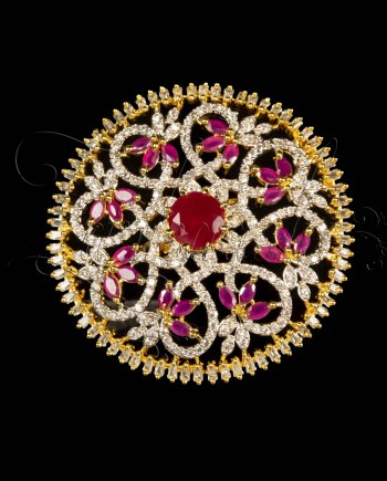 CZ and Ruby Ring