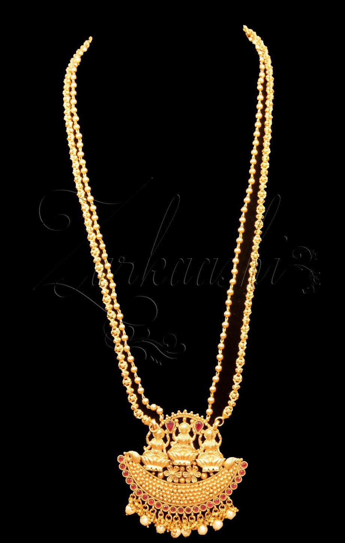 Triple Laxmi Harem Necklace Set