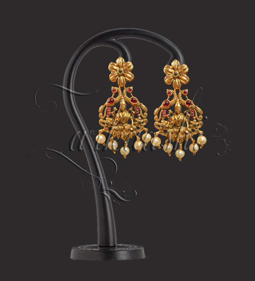 BEST LAXMI AND PEACOCK NECKLACE SET WITH PEARLS