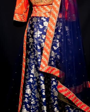 Banarasi Jacquard Silk Party Lehenga
