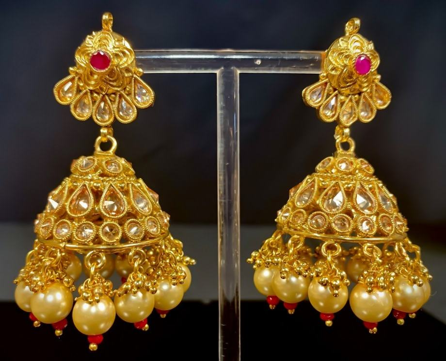 Best Polki Necklace Earrings