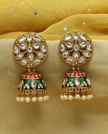 Kundan Meenakari Earring