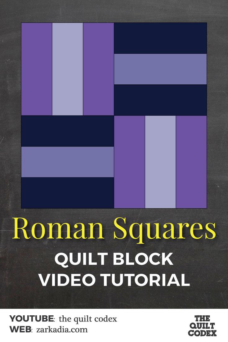 roman squares quilt block