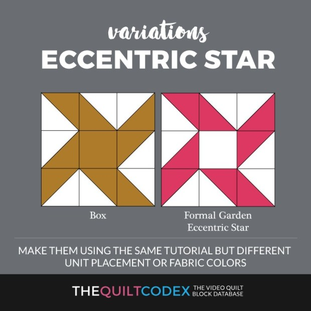 eccentric star quilt block variations