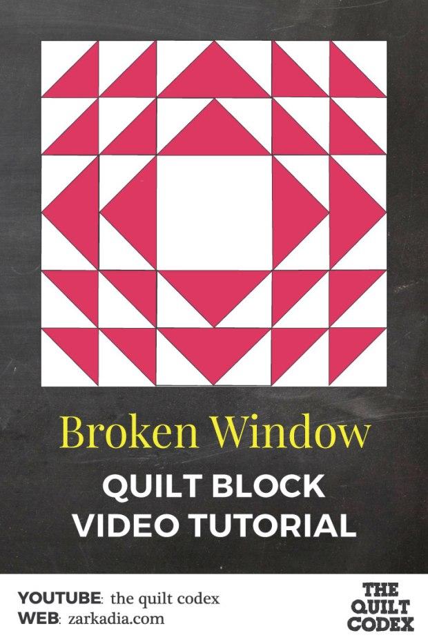 broken window quilt block tutorial