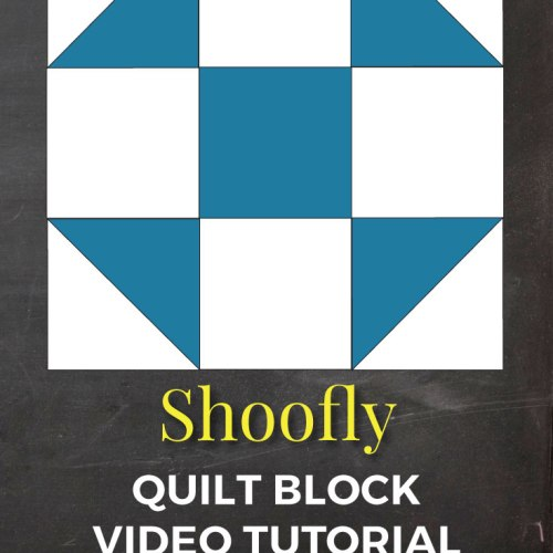 Shoofly quilt block tutorial