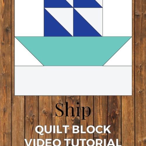 ship quilt block