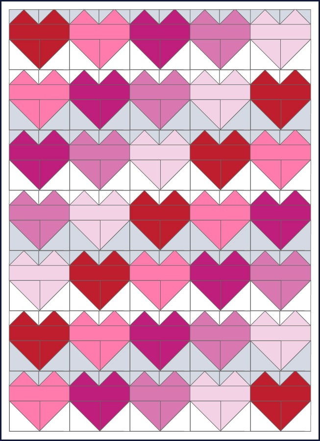 Heart quilt demonstration