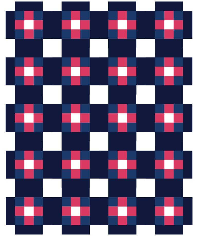 cross patch quilt