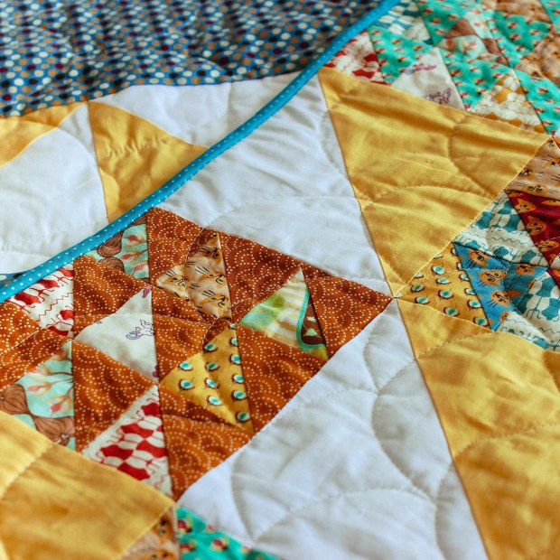 half square triangle quilt