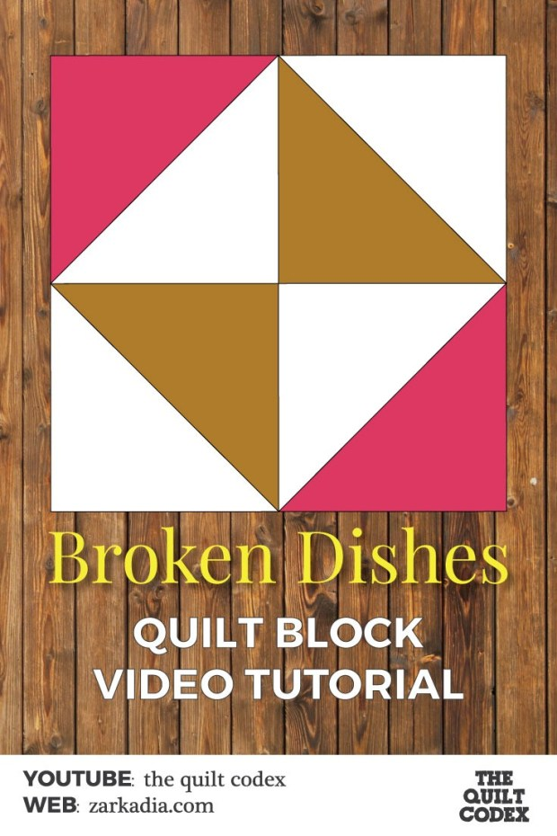 broken dishes quilt block tutorial