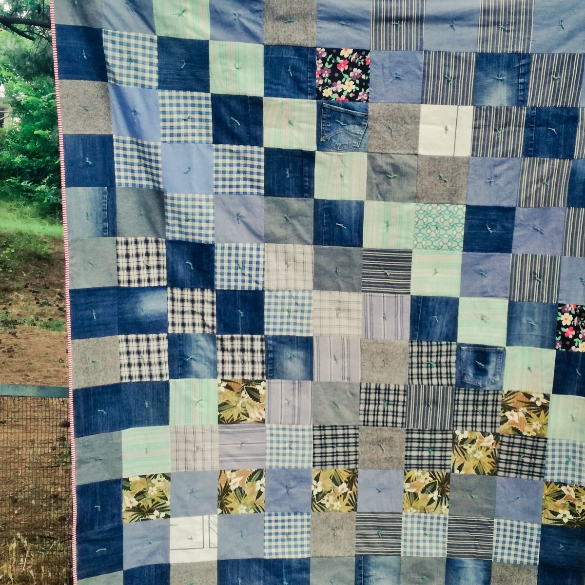 Denim quilt for our family picnics