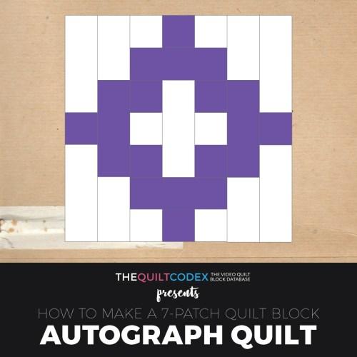 Autograph quilt block tutorial