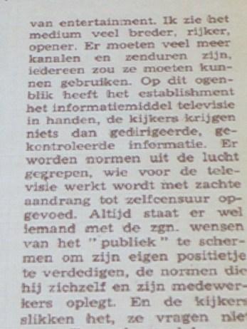 Jef Cornelis in Humo 1969 citaat 2/6
