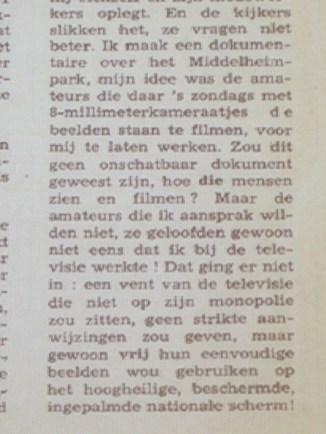Jef Cornelis in Humo 1969 citaat 3/6
