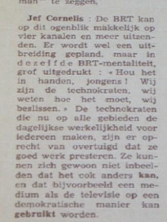 Jef Cornelis in Humo 1969 citaat 4/6